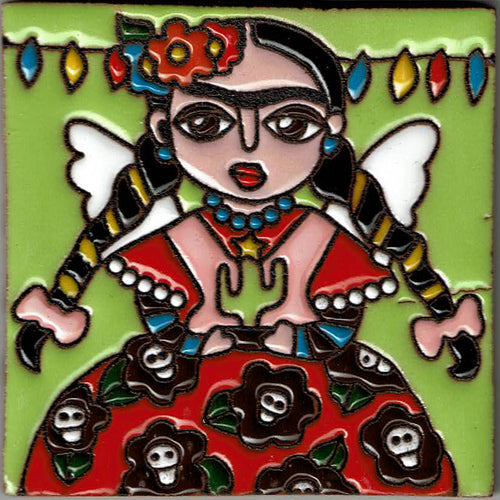 Holiday Angel Mexican Tile