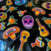 Mexican Oilcloth - Sugar Skull on Black