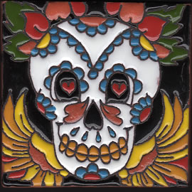 Isabella Tile – Skull with Wings