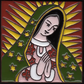 Isabella Tile – Virgin of Guadalupe