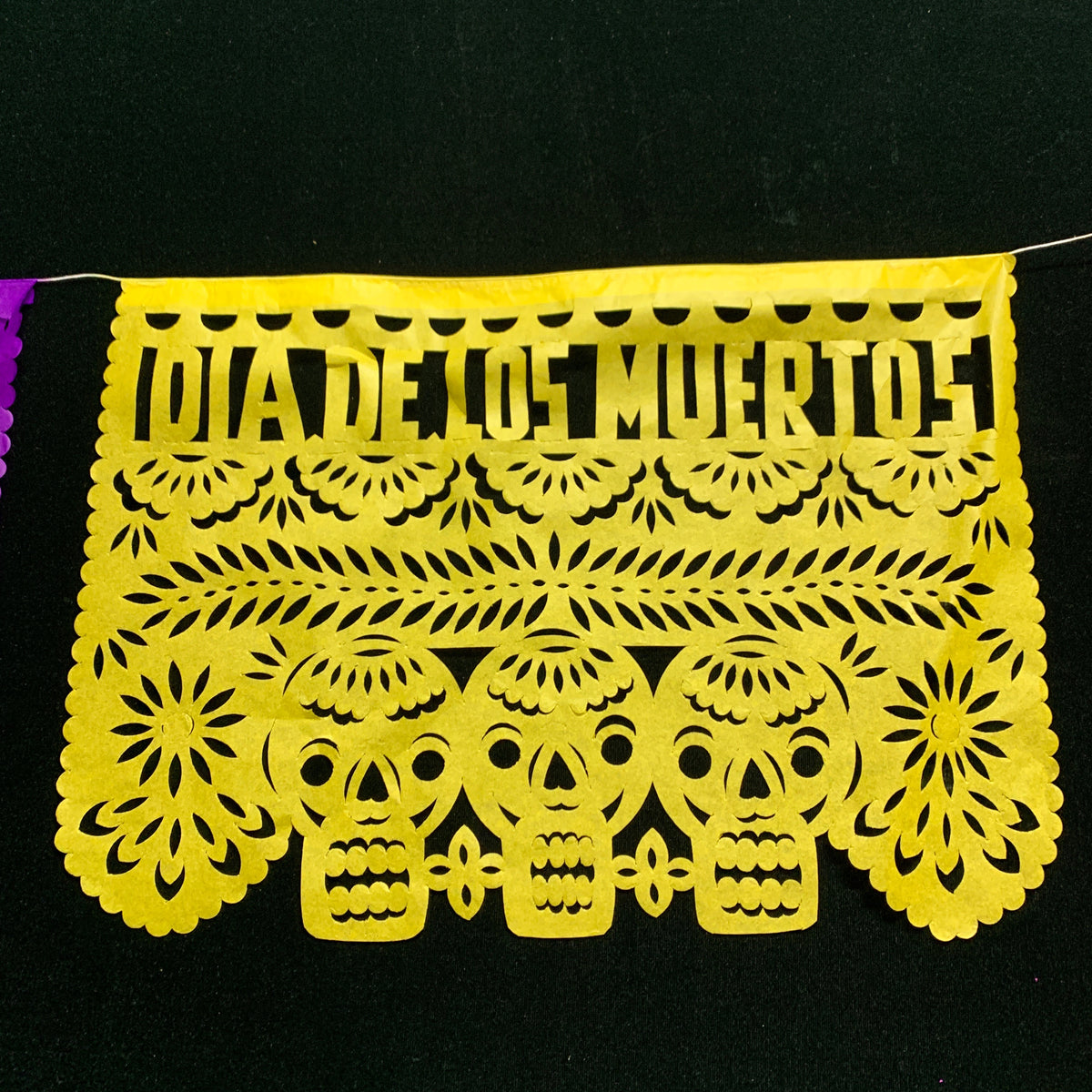 Hand Cut Paper Day of the Dead Papel Picado Banners