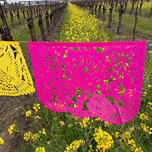 Large Romantic Papel Picado Banner