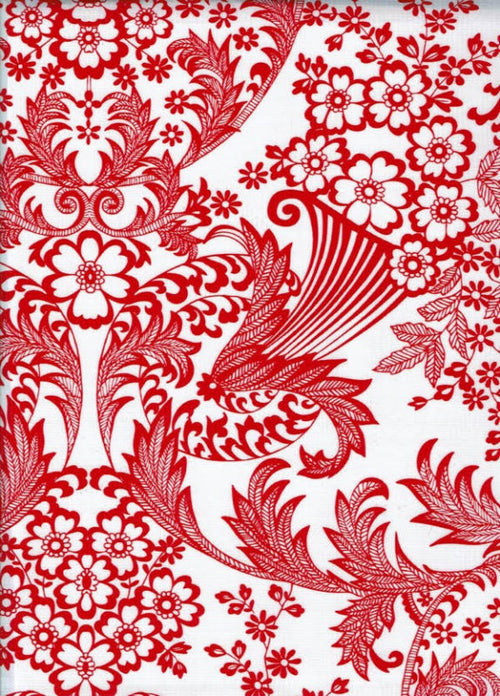 Mexican Oilcloth - Paradise in Red