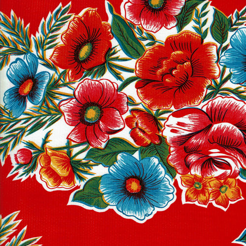 Mexican Oilcloth - Savannah Red