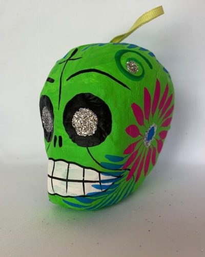 Paper Mache Sugar Skull Ornament