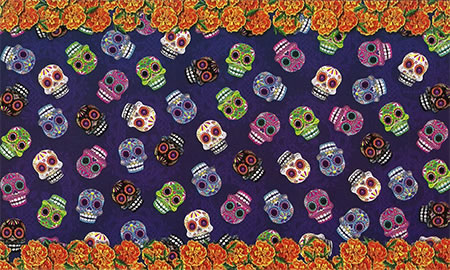 Purple Sugar Skull Gift Wrap