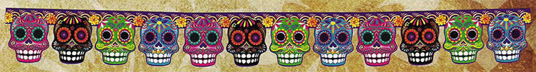 Rainbow Sugar Skull Garland