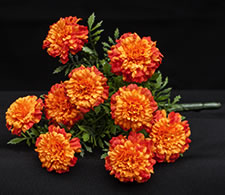 Silk Marigold Bouquets - Orange