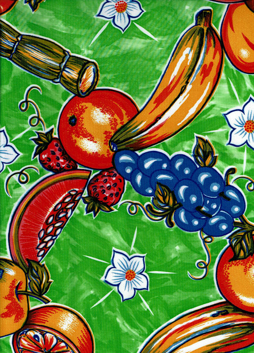 Mexican Oilcloth - Tropic on Lime