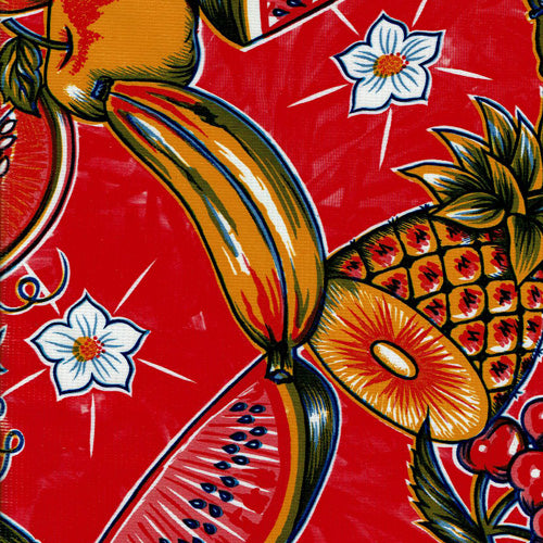 Mexican Oilcloth - Tropic on Red
