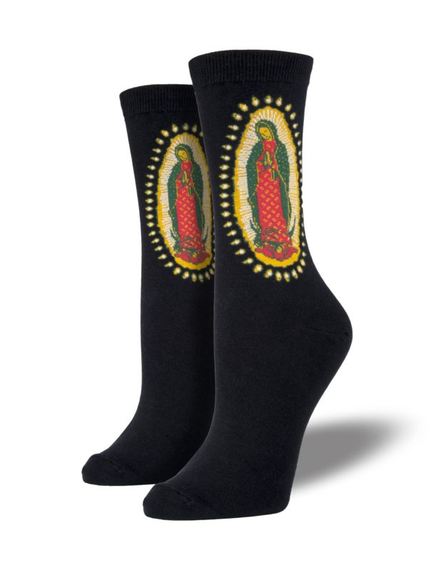 Women's Guadalupe Crew Socks - Black