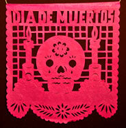 Plastic Day of the Dead Papel Picado Banners – Large