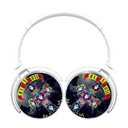Guns N Roses Logo Cross Bluetooth Headphones