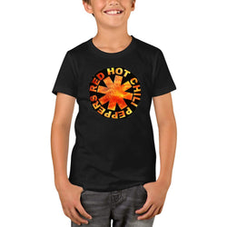 Red Hot Chili Peppers Textured Rectangle Youth T-Shirts
