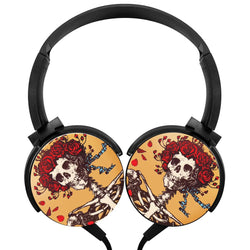 Grateful Dead Picture Wireless Lightweight Long-Cord Headphones