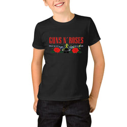 Guns N' Roses Logo Red Youth T-Shirts