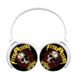 Guns N Roses Logo Skull Knife Bluetooth Headphones
