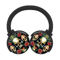 Guns N Roses Logo Skull Fire Bluetooth Headphones