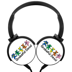 Grateful Dead Heart Wireless Lightweight Long-Cord Headphones