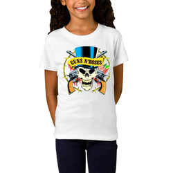 Guns N Roses Skull Hat Youth T-Shirts