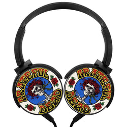 Grateful Dead Picture Art Wireless Lightweight Long-Cord Headphones