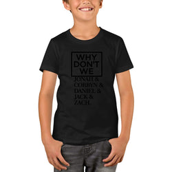 WHY DON'T WE Black Logo Youth T-Shirts