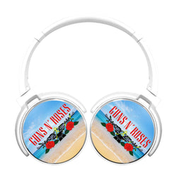 Guns N Roses Logo Red Bluetooth Headphones
