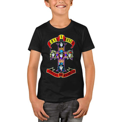 Guns N Roses Logo Cross Youth T-Shirts