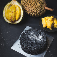 Charcoal Rosette Durian Cake