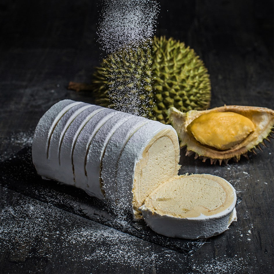 Sliced Premium Durian Swiss Roll