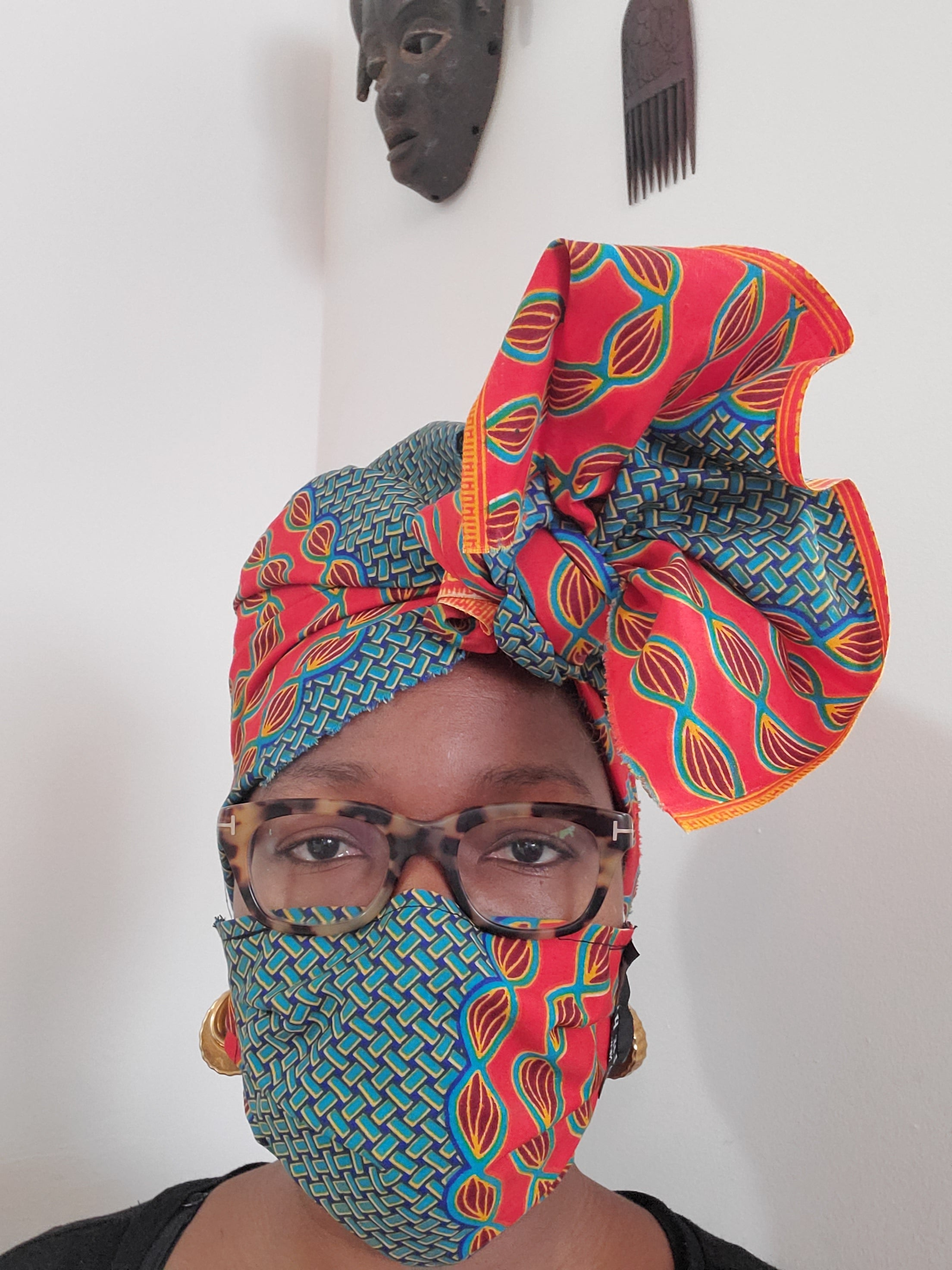 Pure Hazelle_ African Print Headwrap/ Fabric