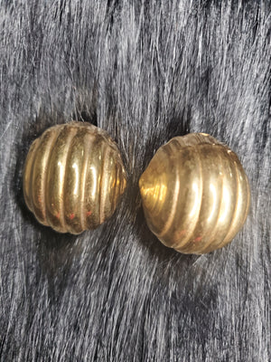 Brass Earrings Ball by Pure Hazelle