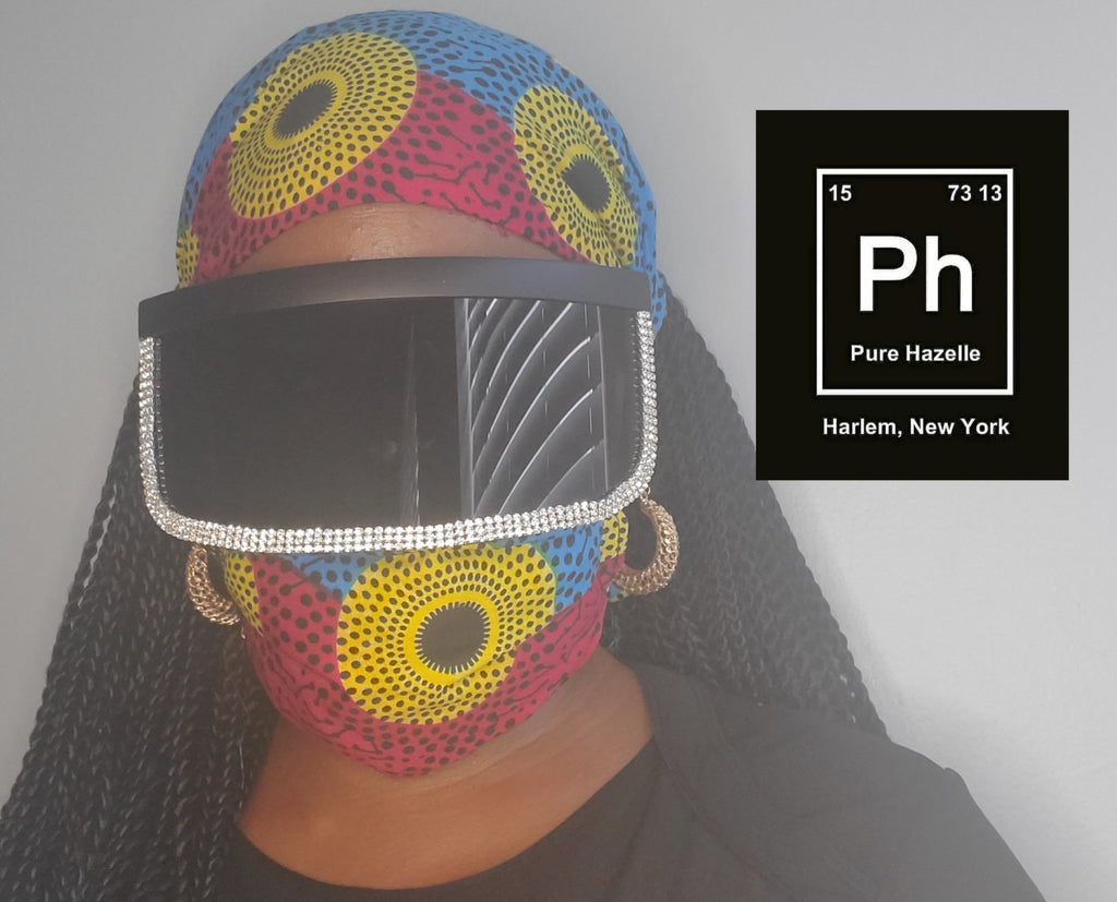 PH Face Shield/ Visor Sunglasses with Rhinestones #PHSV2