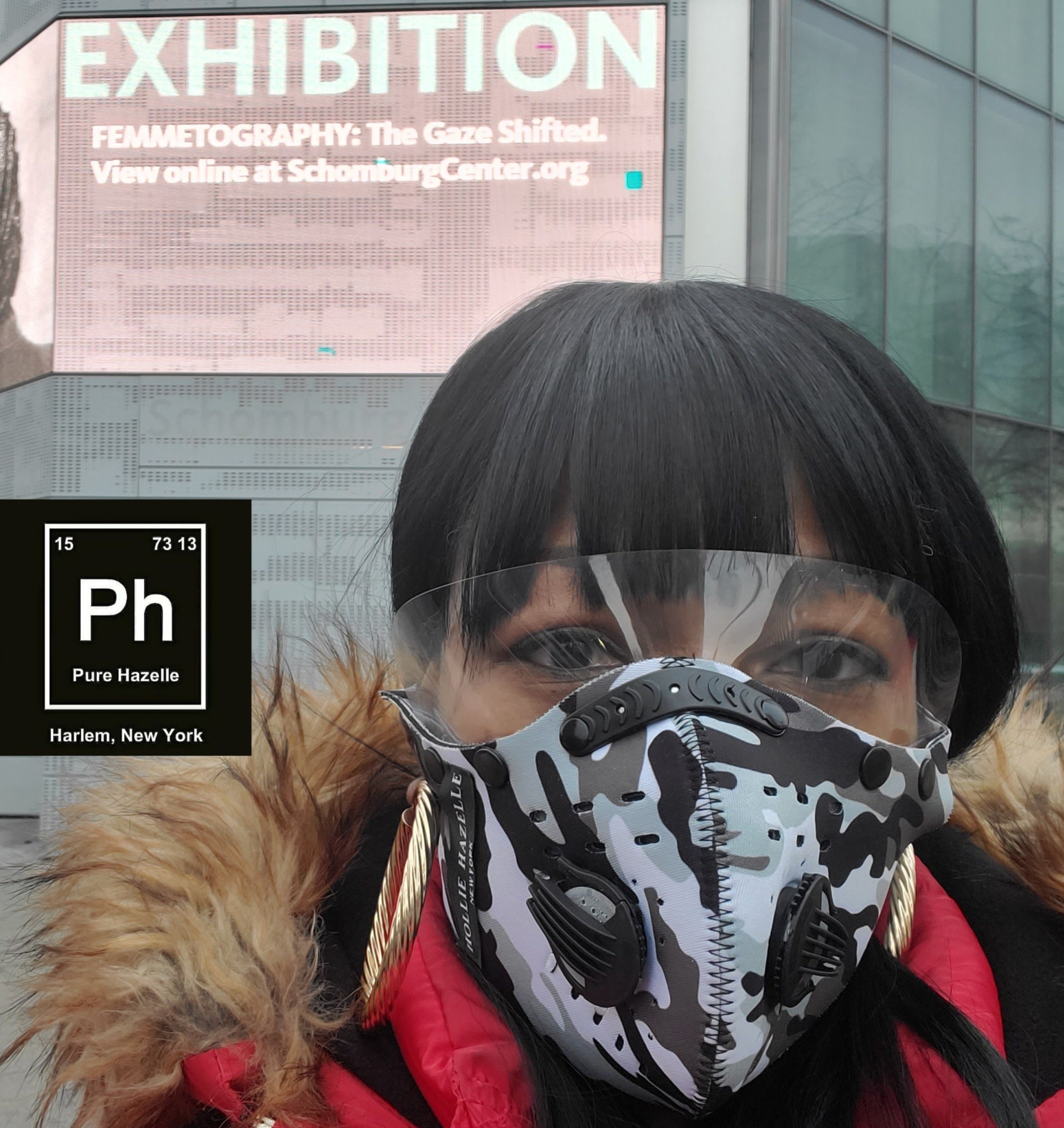PH FULL FACE REUSABLE FACEMASK with Detachable EYE SHIELD #PHFM3