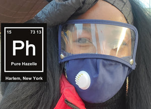 PH FULL FACE REUSABLE FACEMASK with Detachable EYE SHIELD #PHFM4
