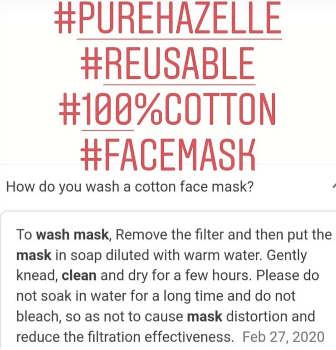 Pure Hazelle Three Layer Reusable Face Mask I Can't Breathe #PH3L