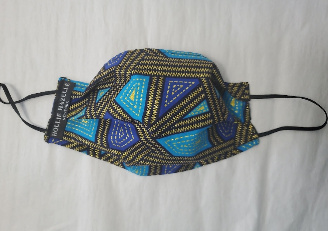 Pure Hazelle_ African Print 100% Cotton Reusable Face Mask #PH25