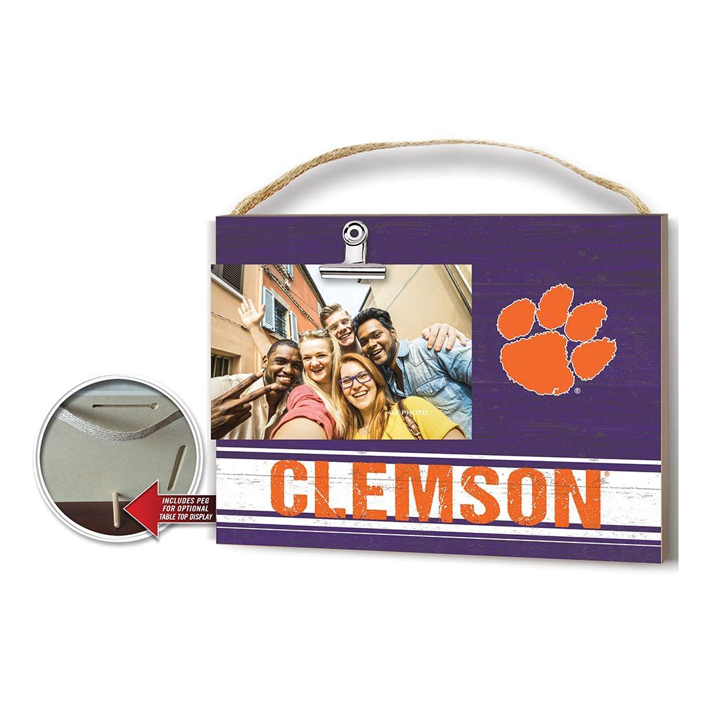 Clip It Colored Logo Photo Frame Clemson Tigers