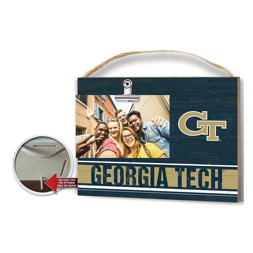 Clip It Colored Logo Photo Frame Georgia Tech Yellow Jackets