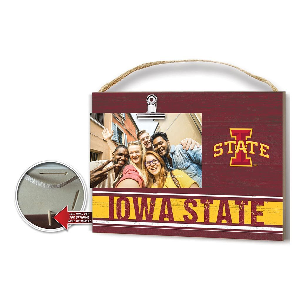 Clip It Colored Logo Photo Frame Iowa State Cyclones