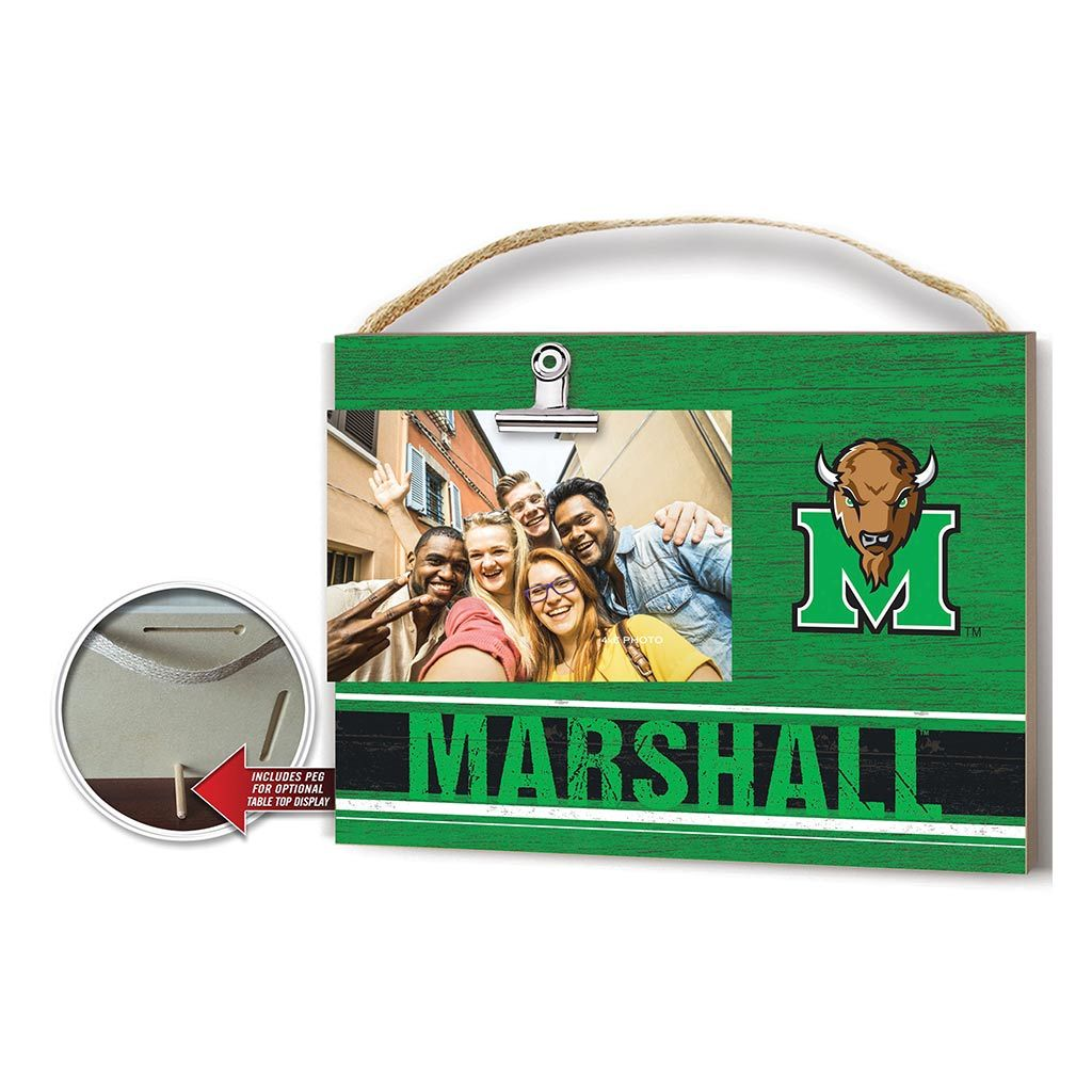 Clip It Colored Logo Photo Frame Marshall Thundering Herd