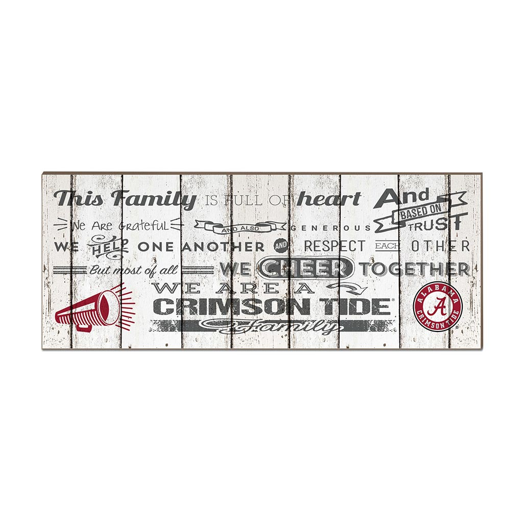 Small Weathered Family Cheer Alabama Crimson Tide