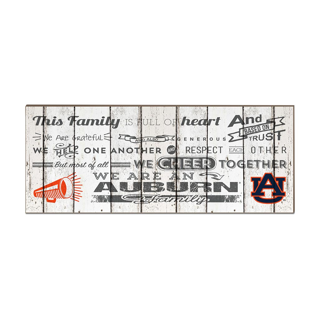 Small Weathered Family Cheer Auburn Tigers