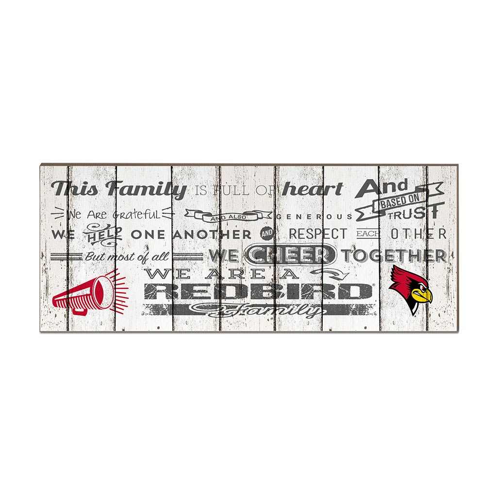Small Weathered Family Cheer Illinois State Redbirds