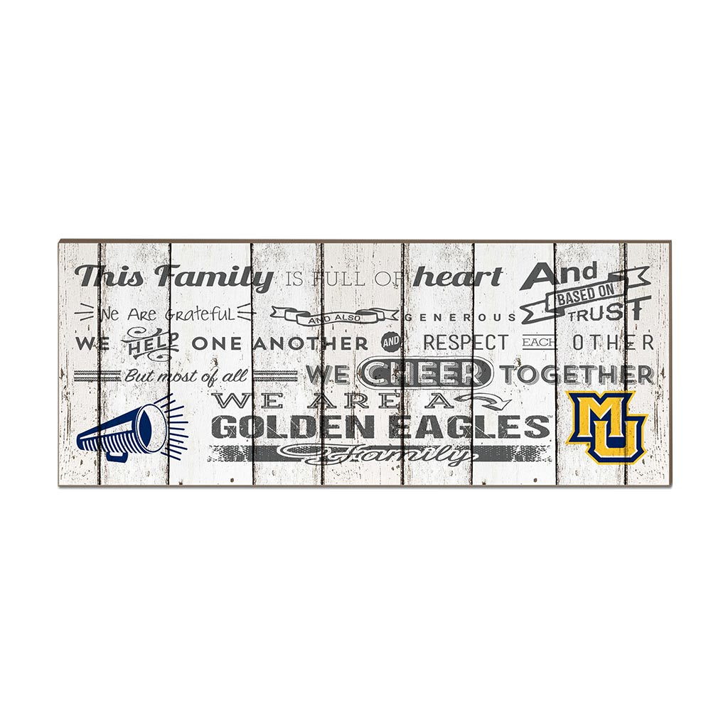 Small Weathered Family Cheer Marquette Golden Eagles