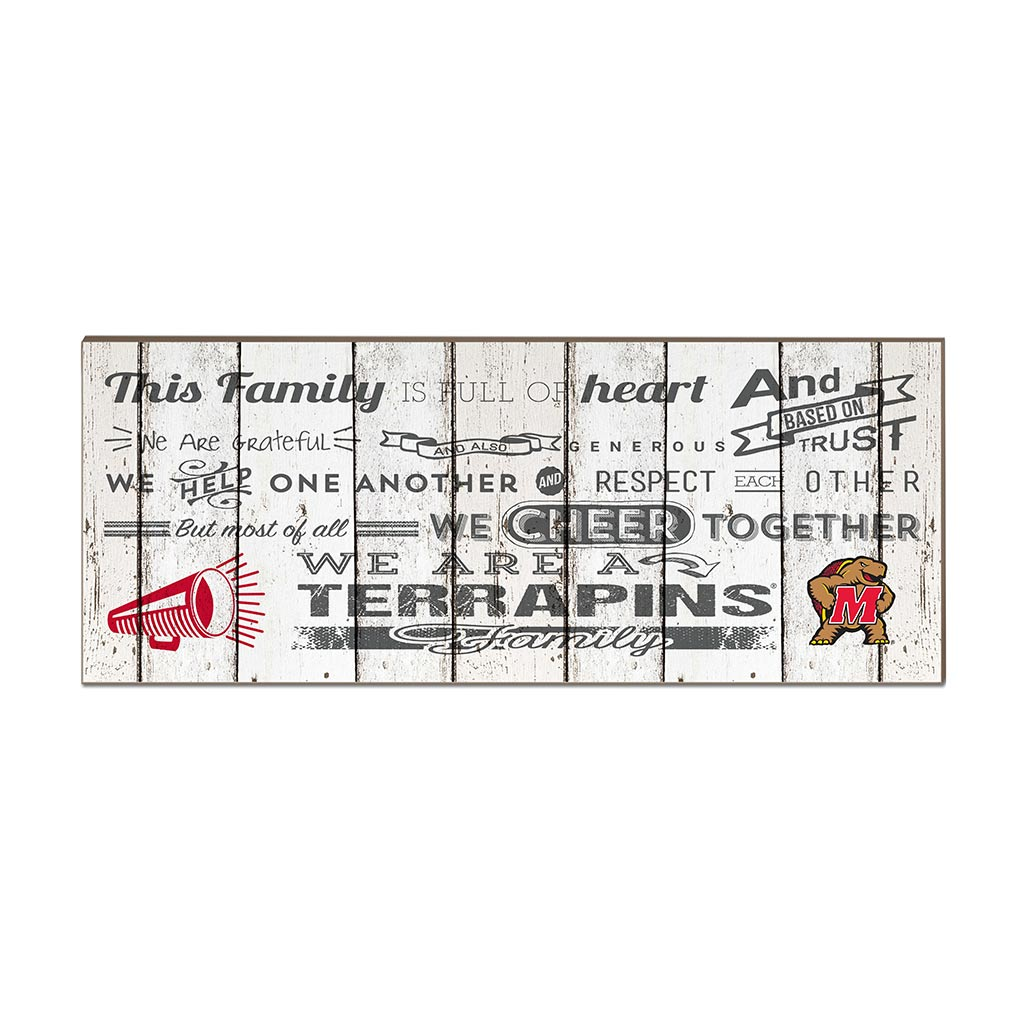 Small Weathered Family Cheer Maryland Terrapins
