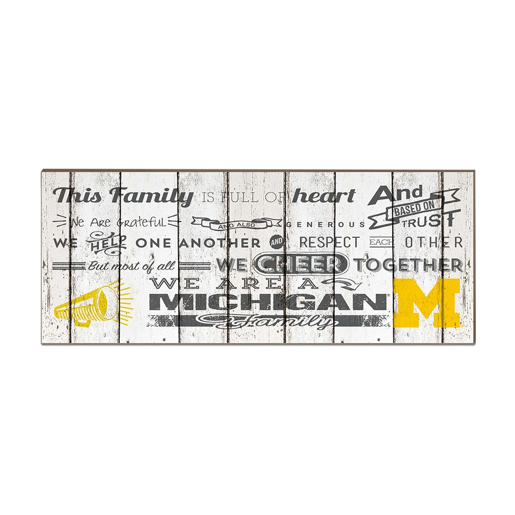 Small Weathered Family Cheer Michigan Wolverines