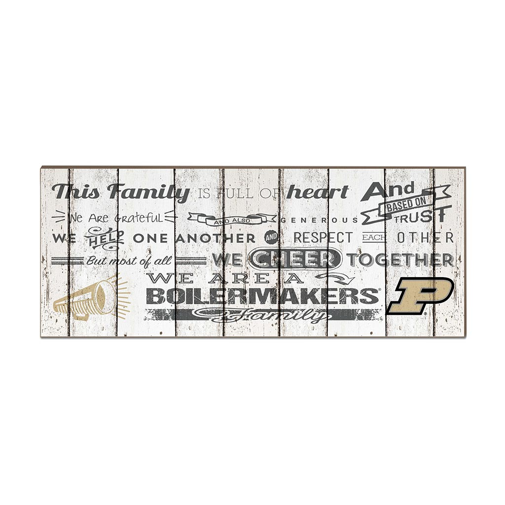 Small Weathered Family Cheer Purdue Boilermakers