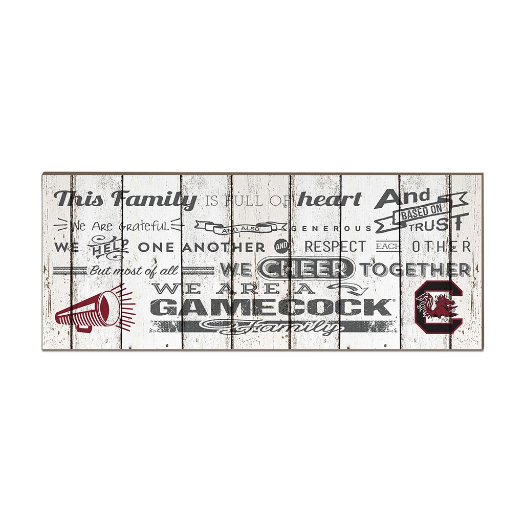 Small Weathered Family Cheer South Carolina Gamecocks