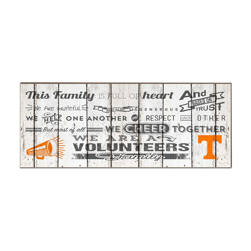 Small Weathered Family Cheer Tennessee Volunteers